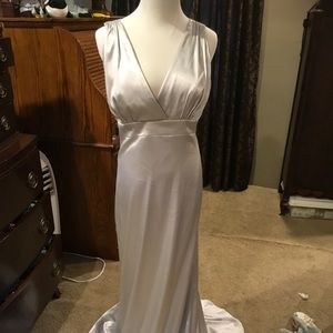 Gray After Six Satin Gown Size 8 Stunning! NWOT